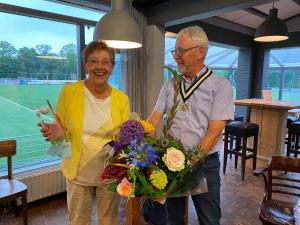 Gerda de Lange, golf vrijwilliger van het jaar